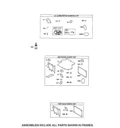 briggs stratton 31p677 1373 b2 gasket sets diagram [ 1696 x 2200 Pixel ]