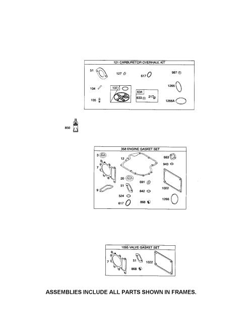 small resolution of briggs stratton 31p677 1373 b2 gasket sets diagram