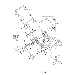 Mtd Lawn Mower Parts Diagram Of Insect Beetles Model 11a084e029 Sears Partsdirect