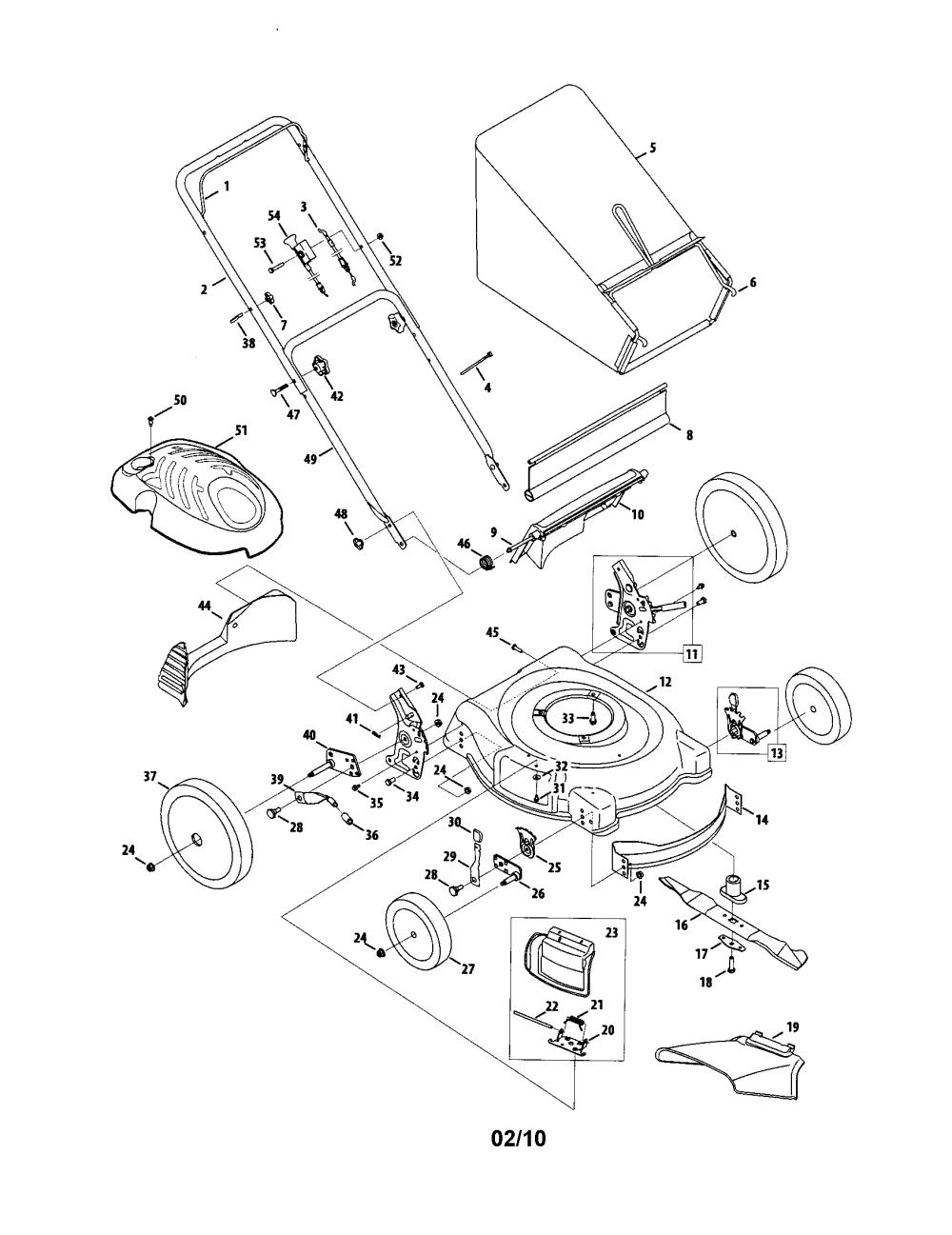 medium resolution of mtd model 54m7 walk behind lawnmower gas genuine parts rh searspartsdirect com mtd parts manual mtd