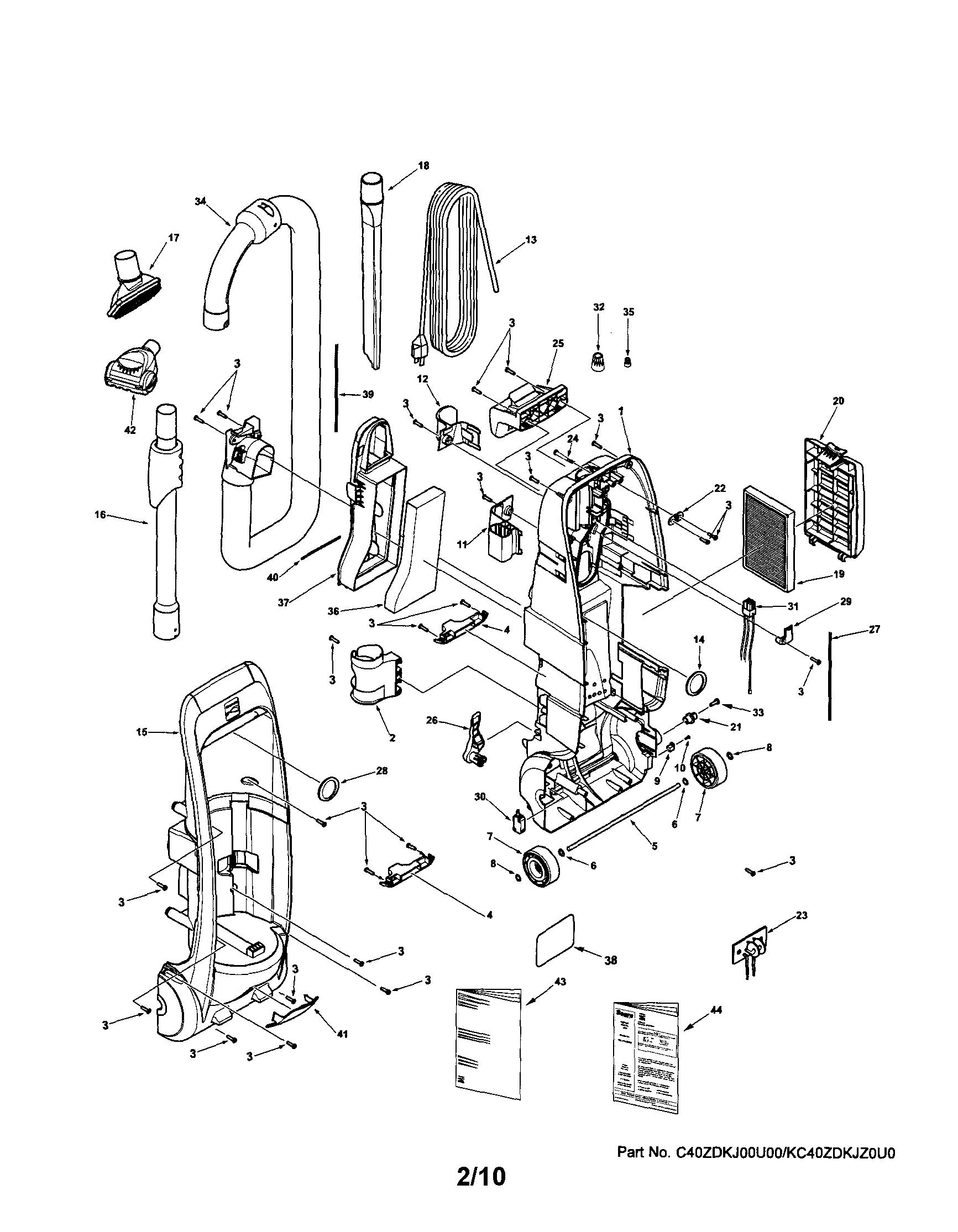 Sears Kenmore Vacuum Model 116 Wiring Diagram, Sears, Get