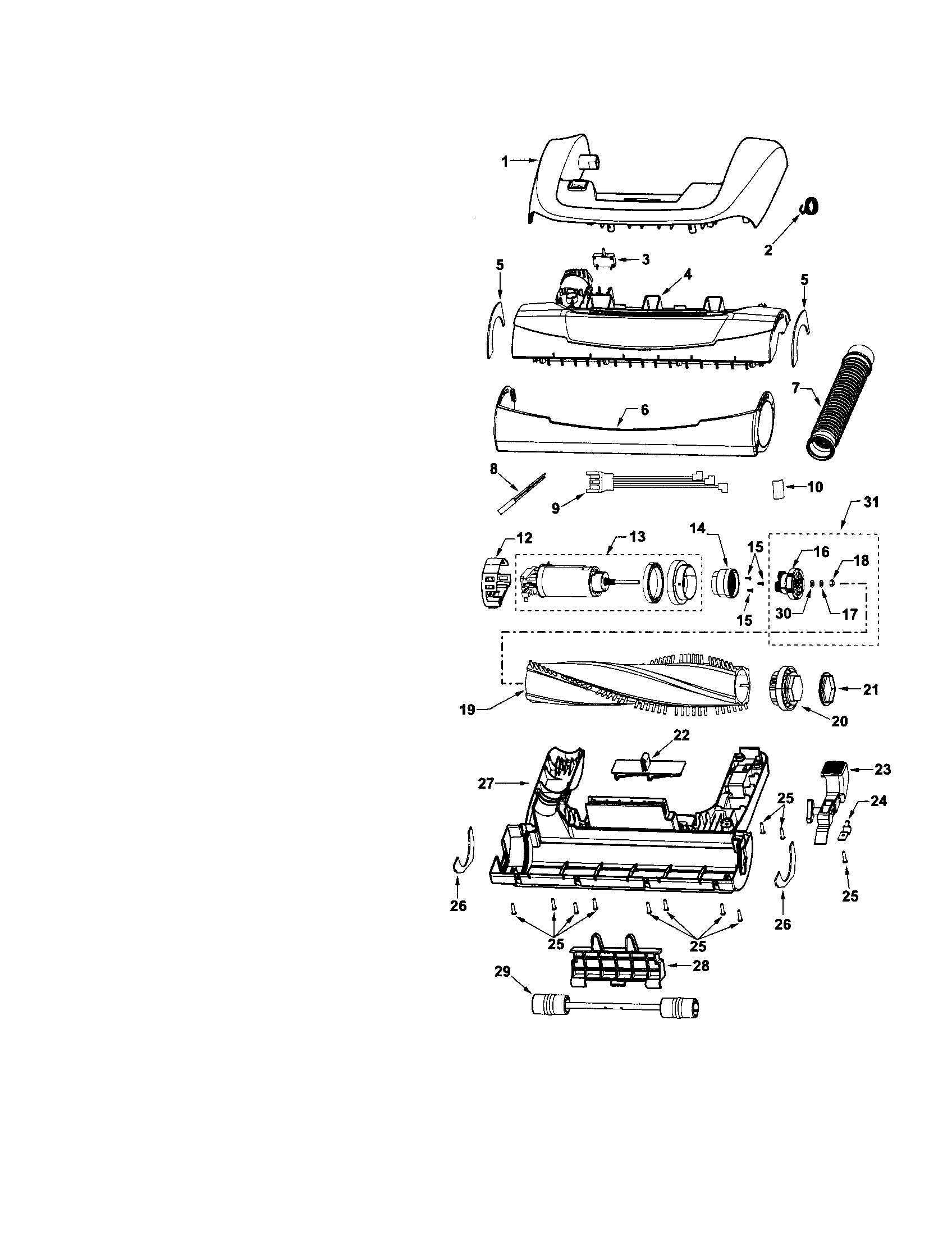 Vacuum Parts: Kenmore Parts Vacuum Model 116