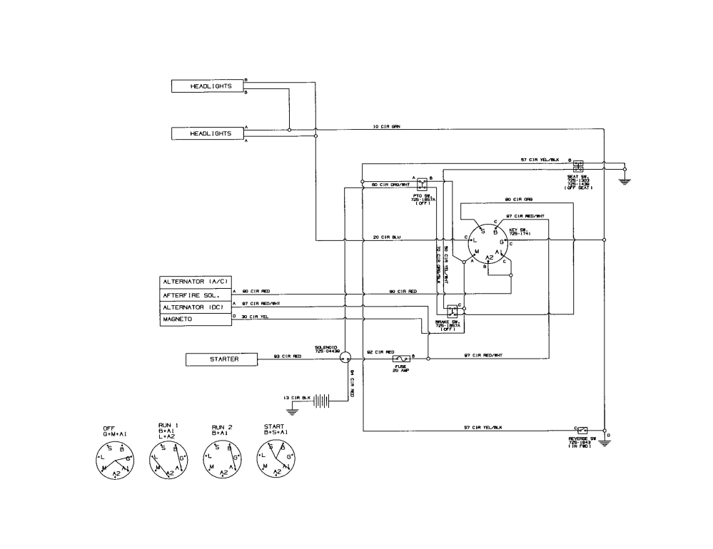 medium resolution of mtd 13ac762f000 wiring harness 725 04481 diagram