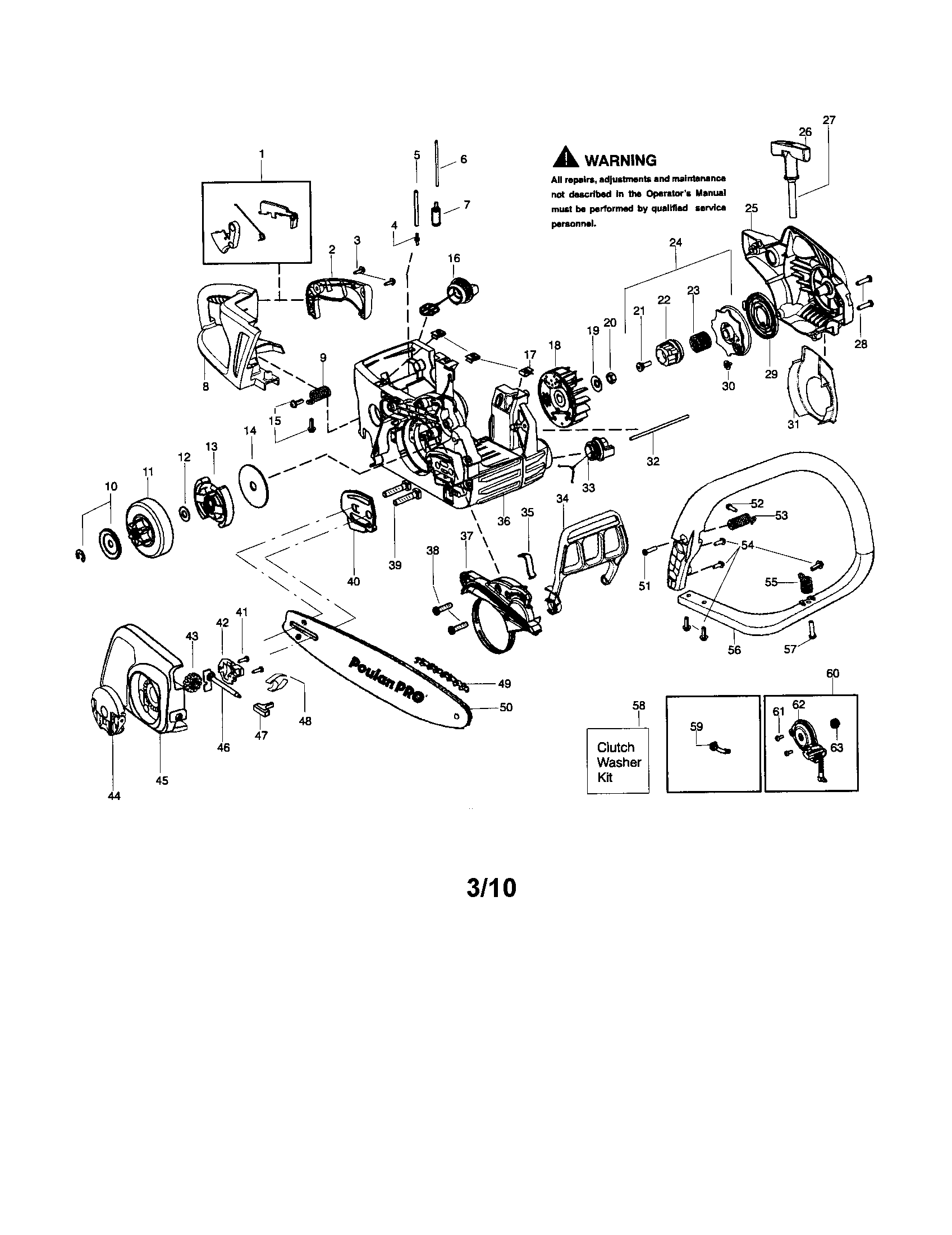 handle chain and guide bar diagram and parts list for poulan chainsaw wiring diagram week [ 1696 x 2200 Pixel ]