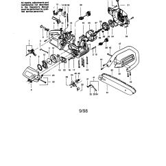 Craftsman Chainsaw Carburetor Diagram 7 Way Golf Stand Bag Gas Parts Model 358350080 Sears