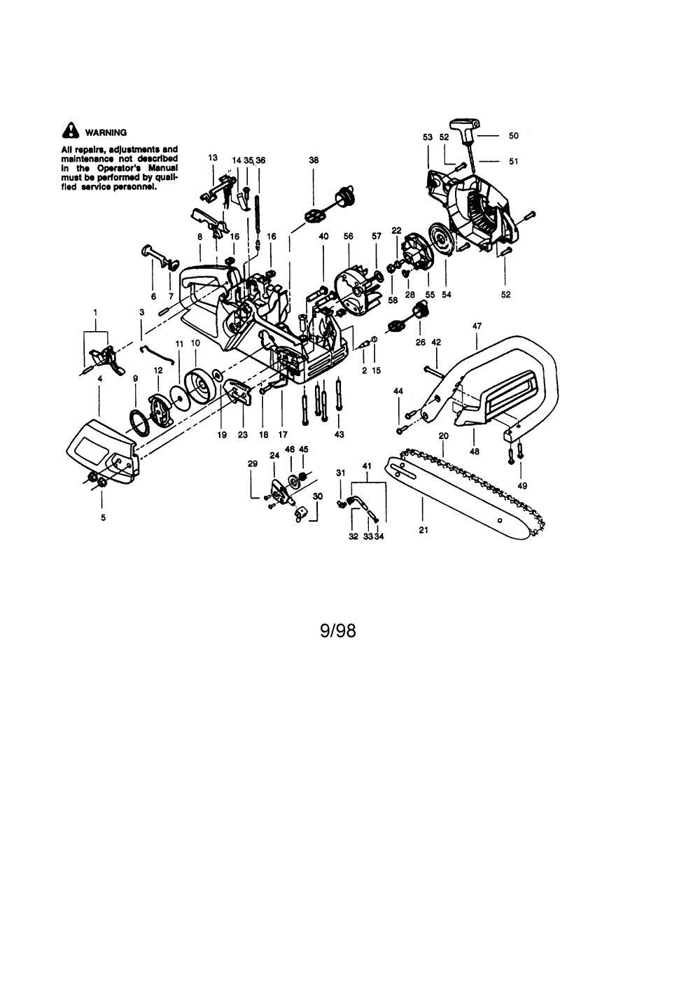 medium resolution of craftsman chainsaw diagram of wiring