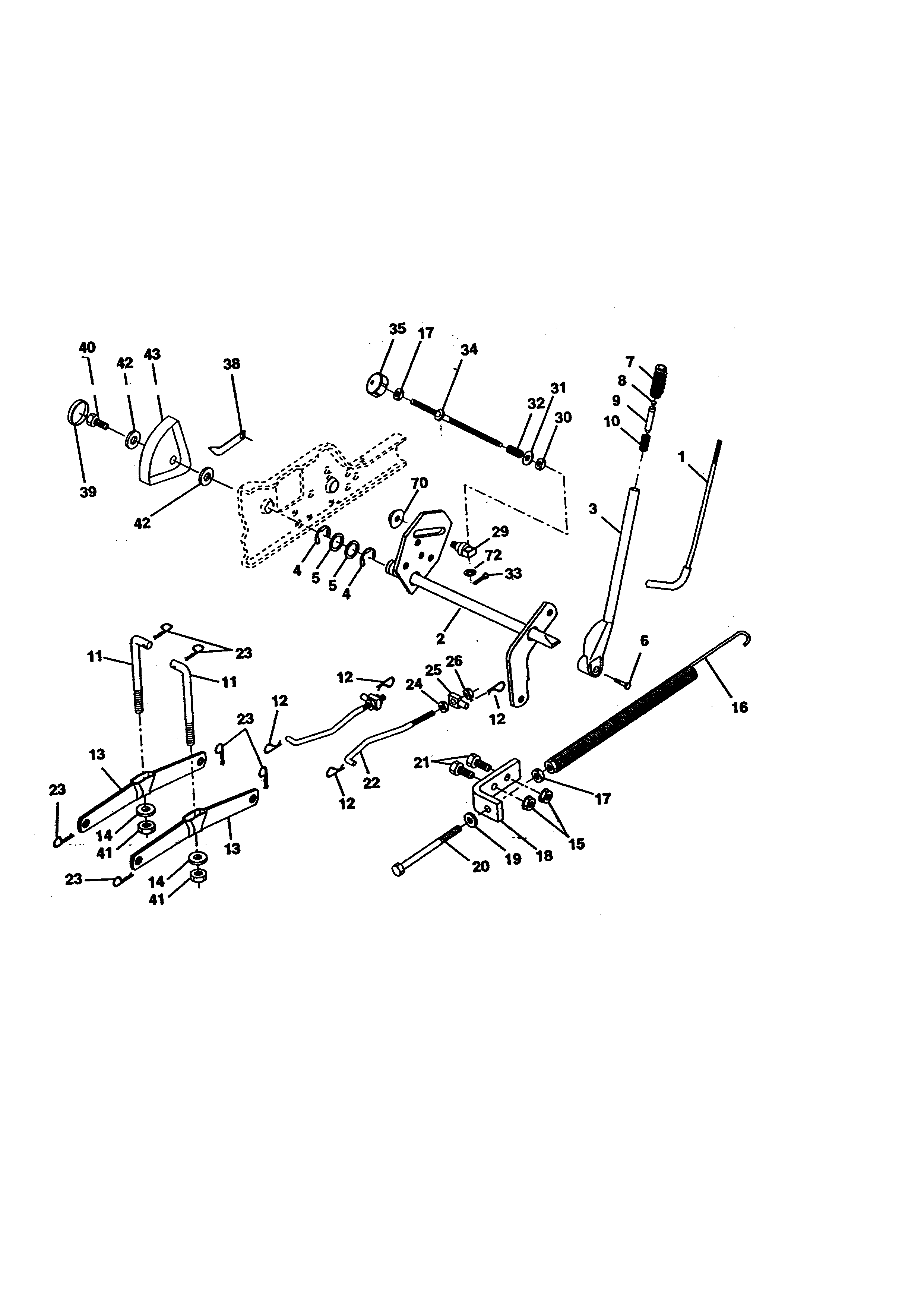 LIFT ASSEMBLY Diagram & Parts List for Model 917273011
