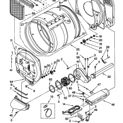 Kenmore 400 Dryer Wiring Diagram Msd 7al 2 7220 Model 11068972892 Residential Genuine Parts