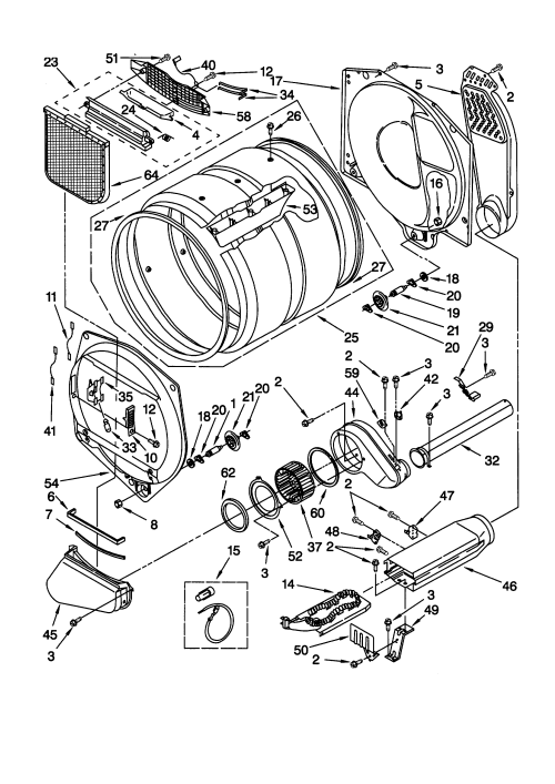 small resolution of kenmore model 11068972892 residential dryer genuine parts roper dryer parts diagram kenmore 110 dryer parts diagram