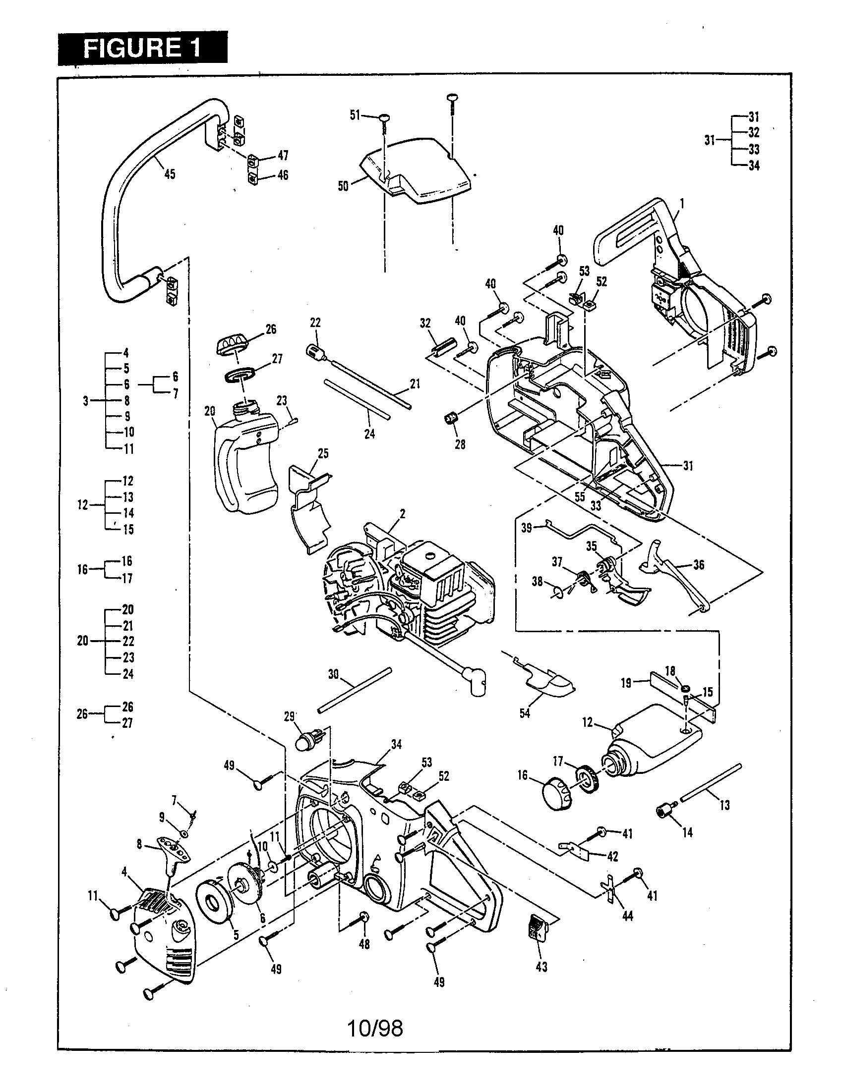 mac 3200 chainsaw diagram images