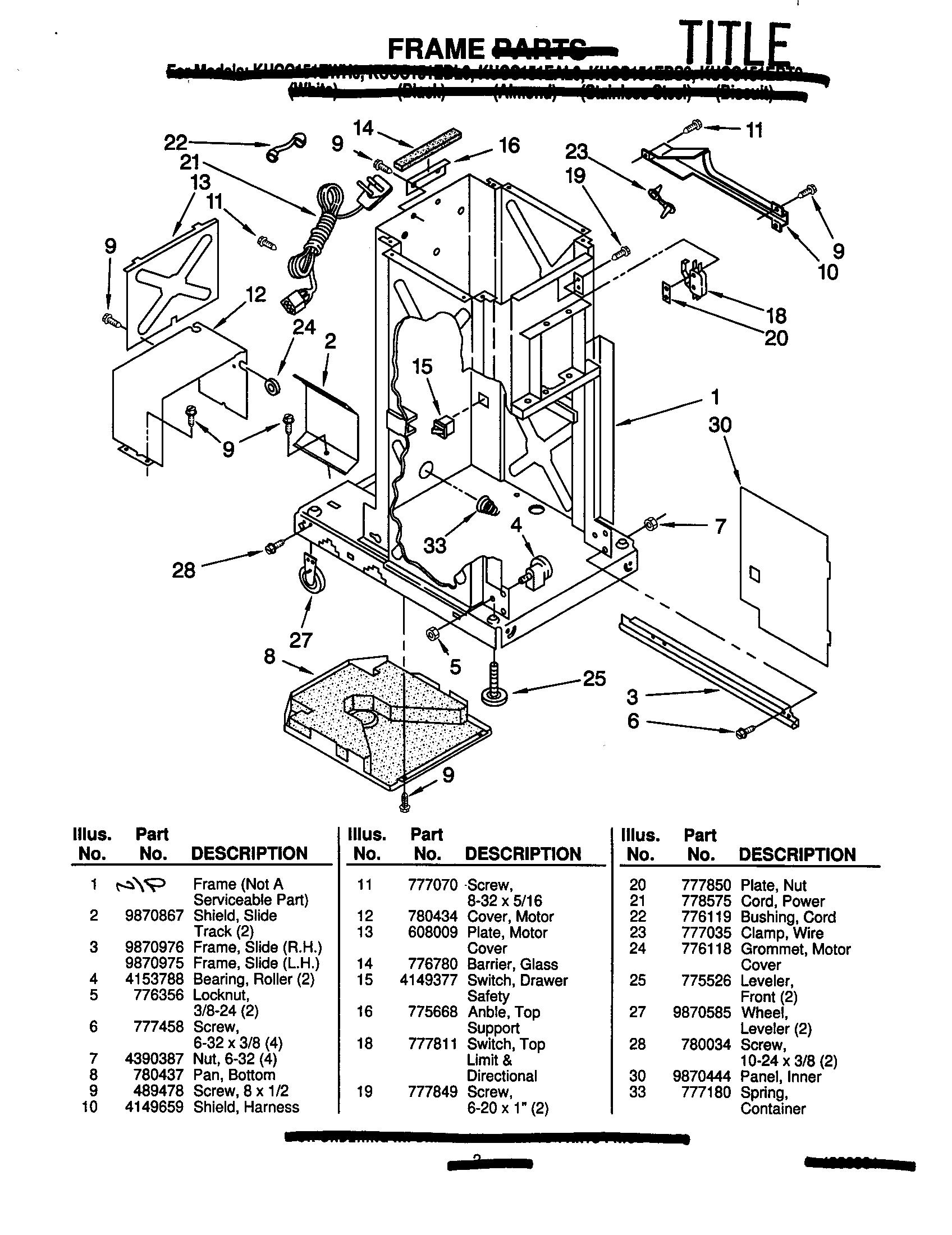 Kenmore Trash Compactor Wiring Diagram Kenmore Electric