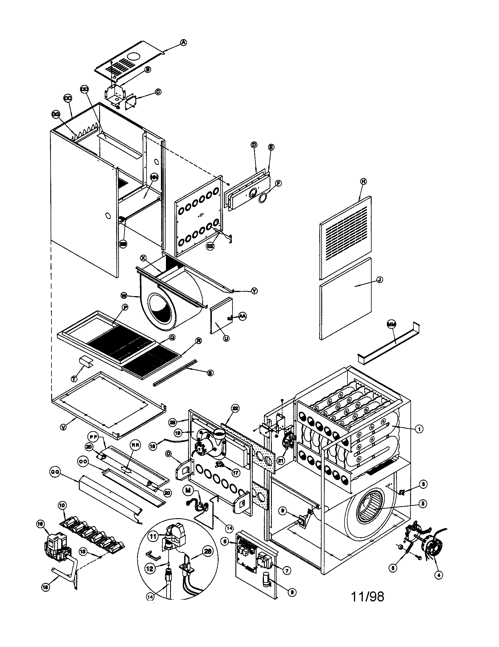 Icp model ntc6050fba1 furnace heater gas genuine parts