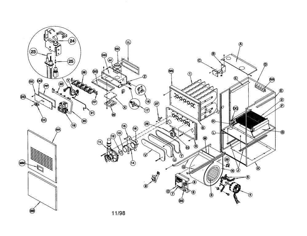 medium resolution of tempstar furnace parts diagram trusted wiring diagram u2022 arcoaire heat pump wiring diagram arcoaire furnace manual wiring diagram