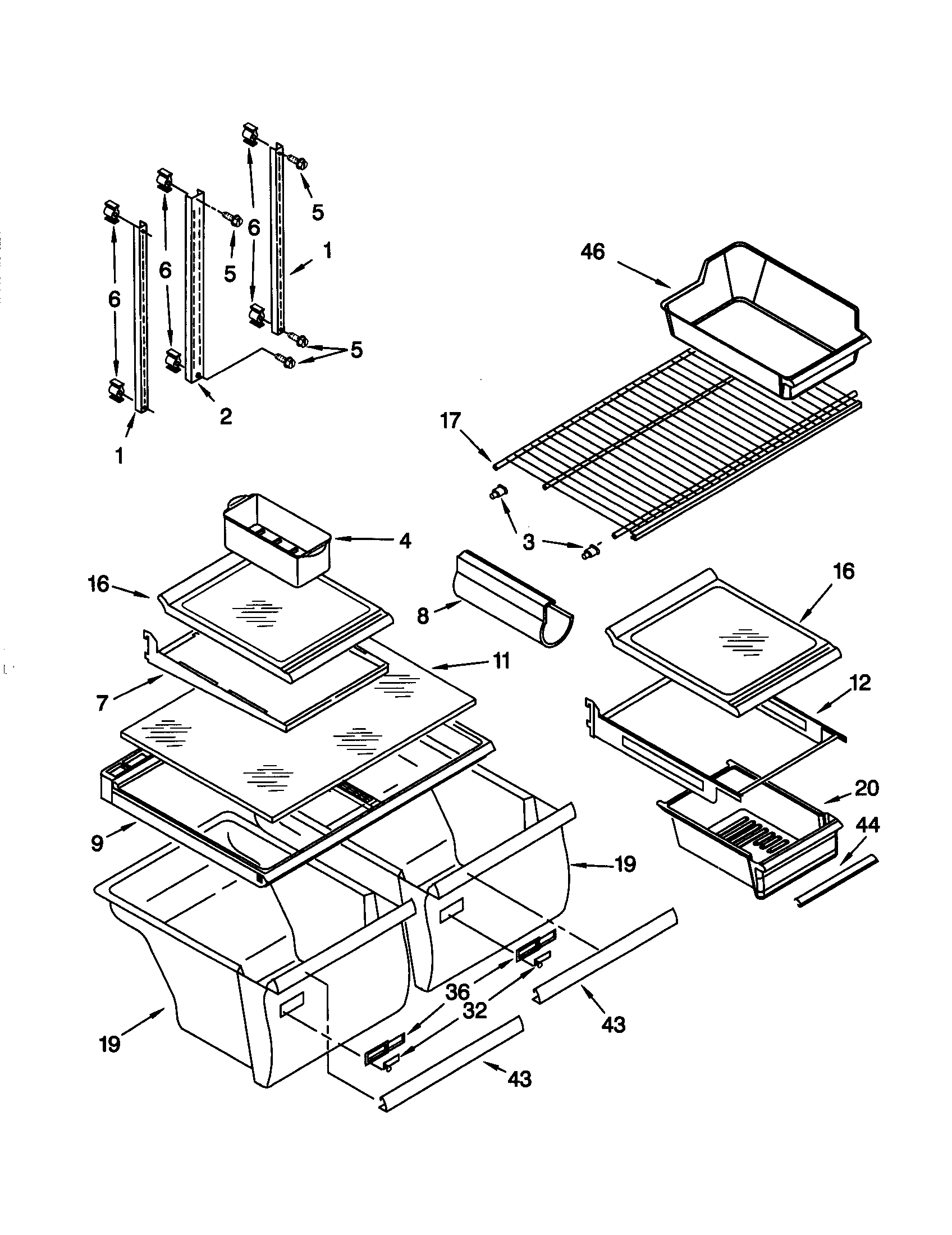 SHELF Diagram & Parts List for Model 10679202990 Kenmore