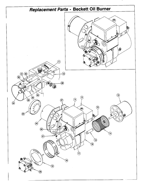small resolution of icp lm05100bgb1 replacement parts beckett oil burner diagram