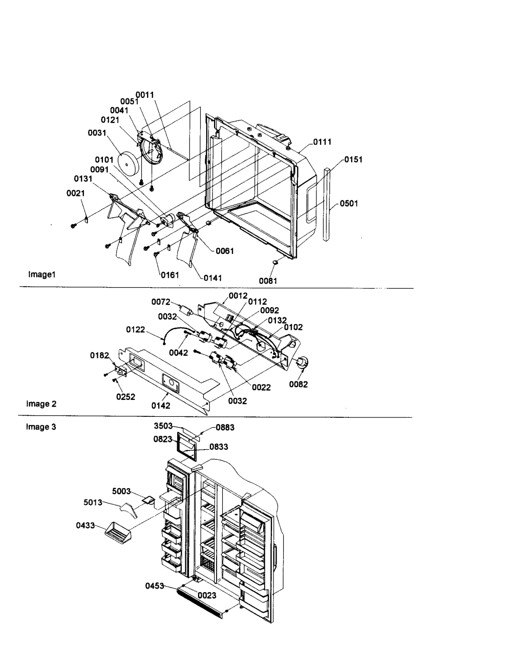 medium resolution of amana sxd22s2w p1303503ww electronic bracket assembly diagram