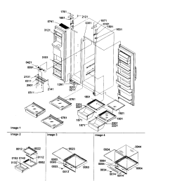 amana sxd22s2w p1303503ww shelves lights and hinges diagram [ 1696 x 2200 Pixel ]