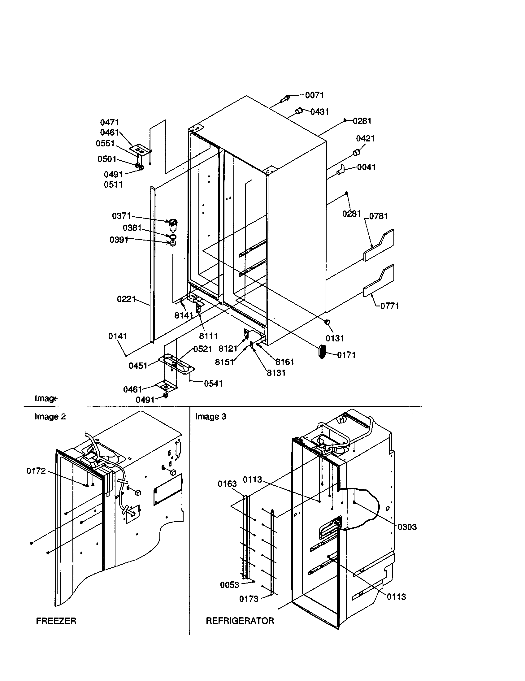 hight resolution of amana sxd22s2w p1303503ww cabinet diagram