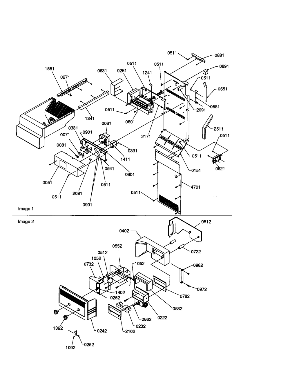 medium resolution of amana sxd22s2w p1303503ww ice maker control assembly diagram