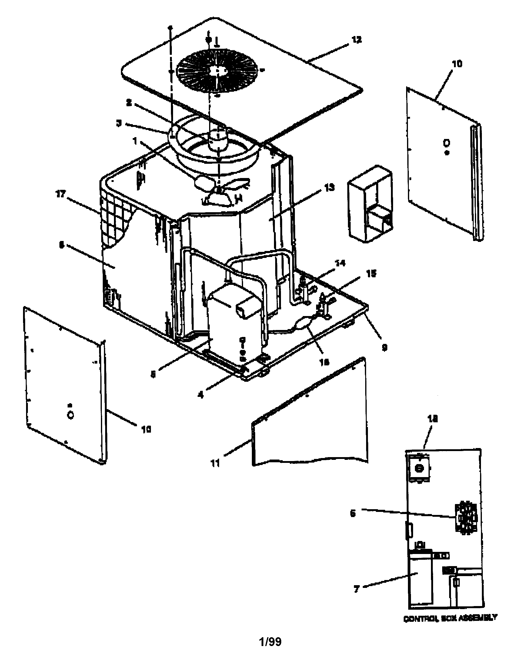 air conditioning components diagram trailer lights wiring goodman central condensing unit parts model ce481gb