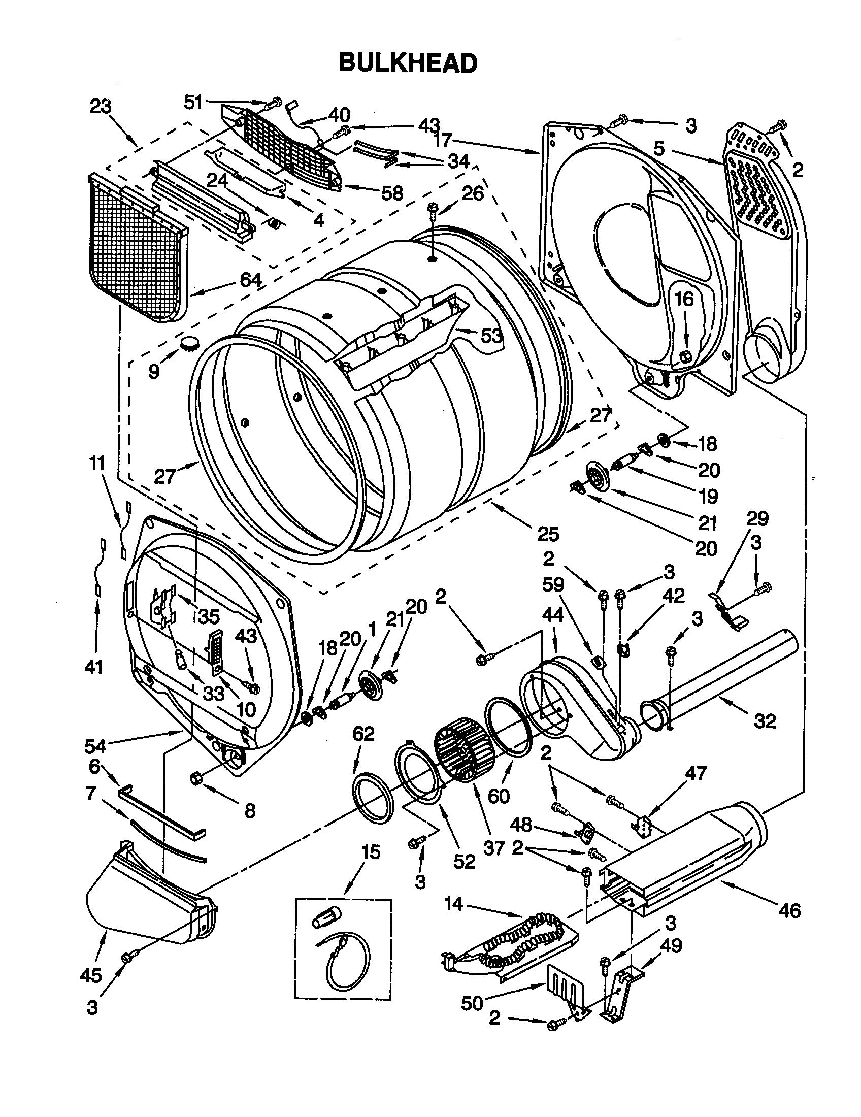 BULKHEAD Diagram & Parts List for Model 11069912990