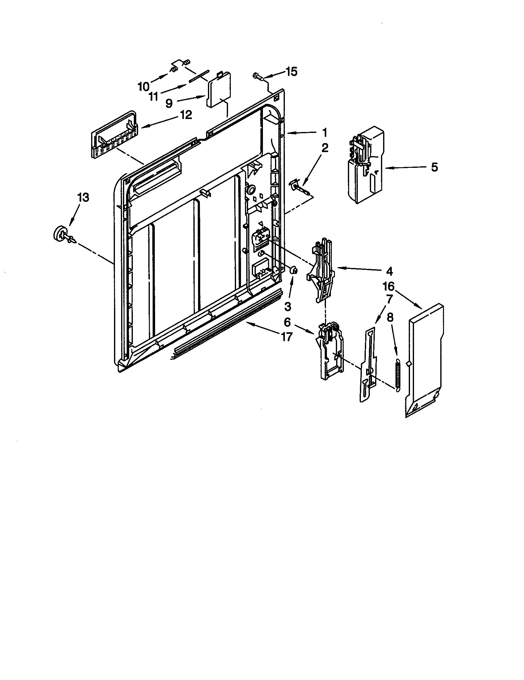 INNER DOOR Diagram & Parts List for Model du810dwgu1