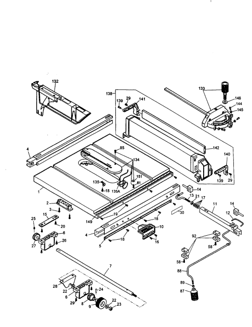 small resolution of looking for dewalt model dw744 type 1 table saw repair u0026 replacementdw744 table saw wiring