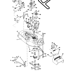 Craftsman Lawn Tractor Parts Diagram 4 Lamp T8 Ballast Wiring Mower Deck And List For Model 917270514