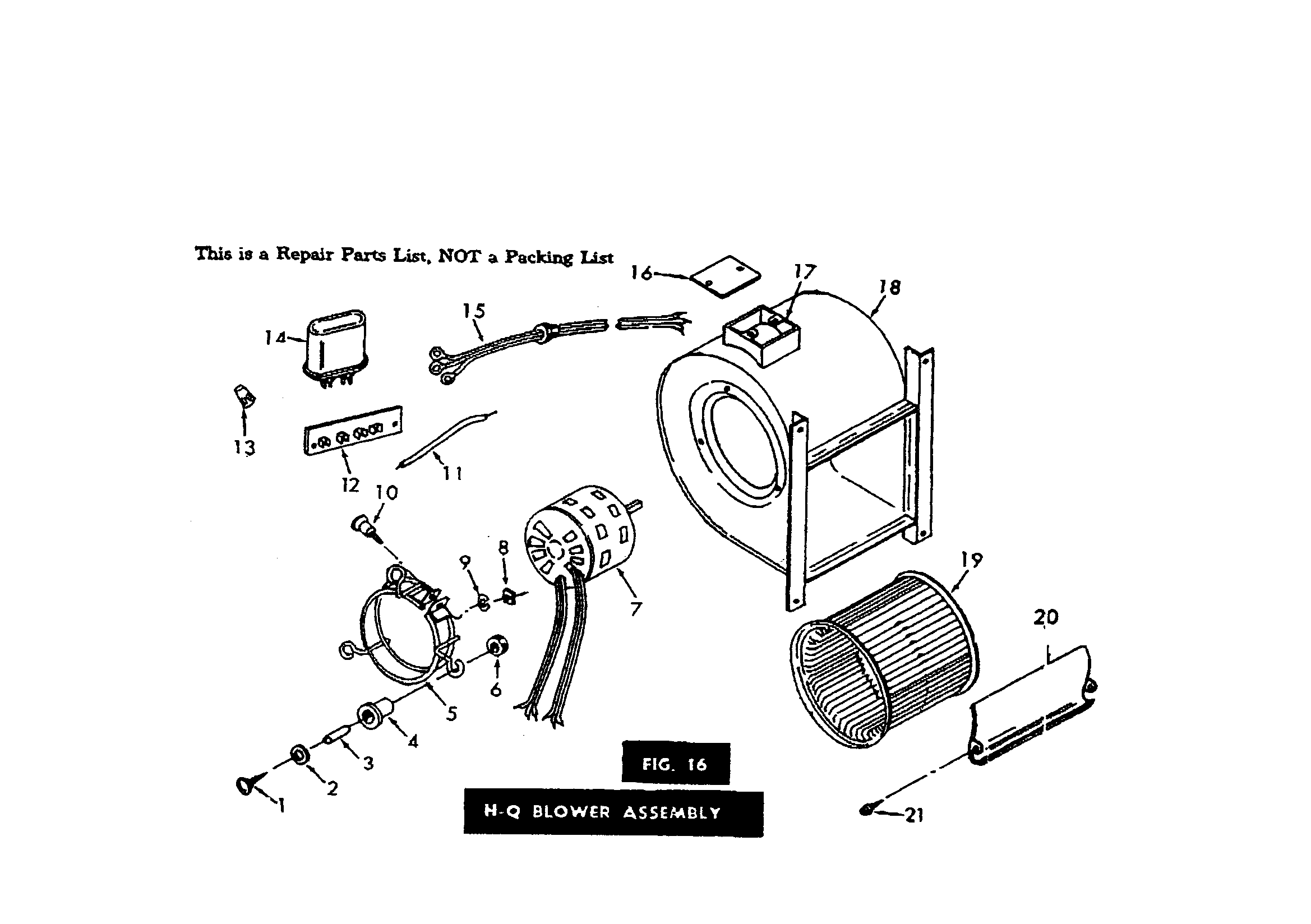 KENMORE Gas-Fired Sectional Furnace Fig.16 h-q blower