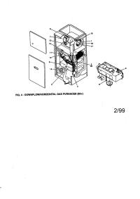 YORK GAS FURNACE Parts | Model p3dhd20n11201 | Sears ...