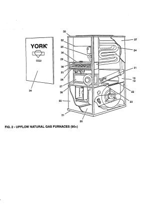 FIG 2 Diagram & Parts List for Model p3urc16n07501c York