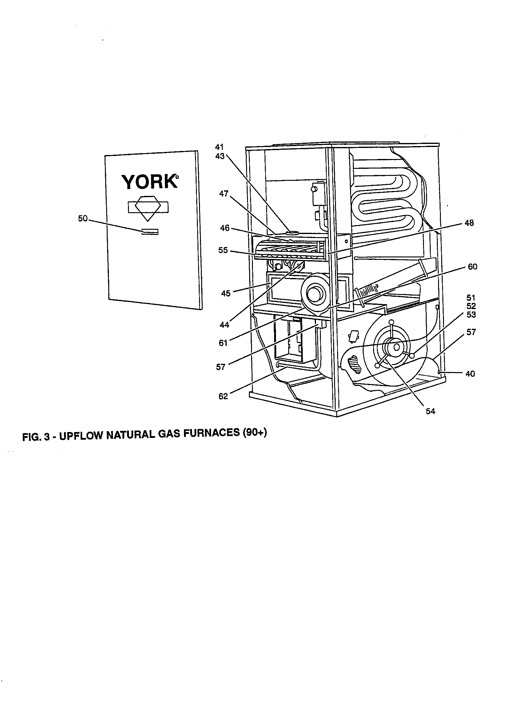 FIG. 3 Diagram & Parts List for Model p3urc20n09501c York