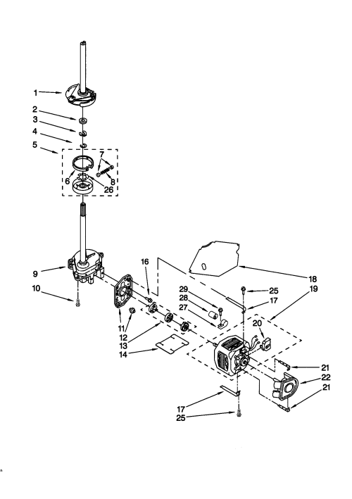 small resolution of kenmore 11029852991 brake clutch gearcase motor pump diagram