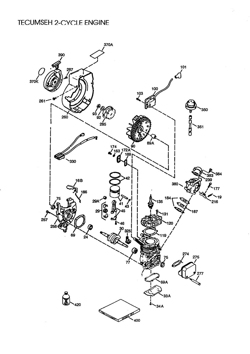 medium resolution of tecumseh hsk600 1704t techumseh 2 cycle engine diagram