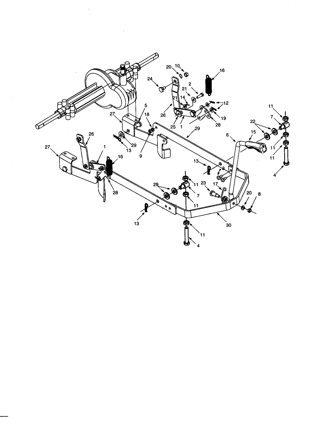 medium resolution of mtd 13a 325 402 deck hanger link diagram