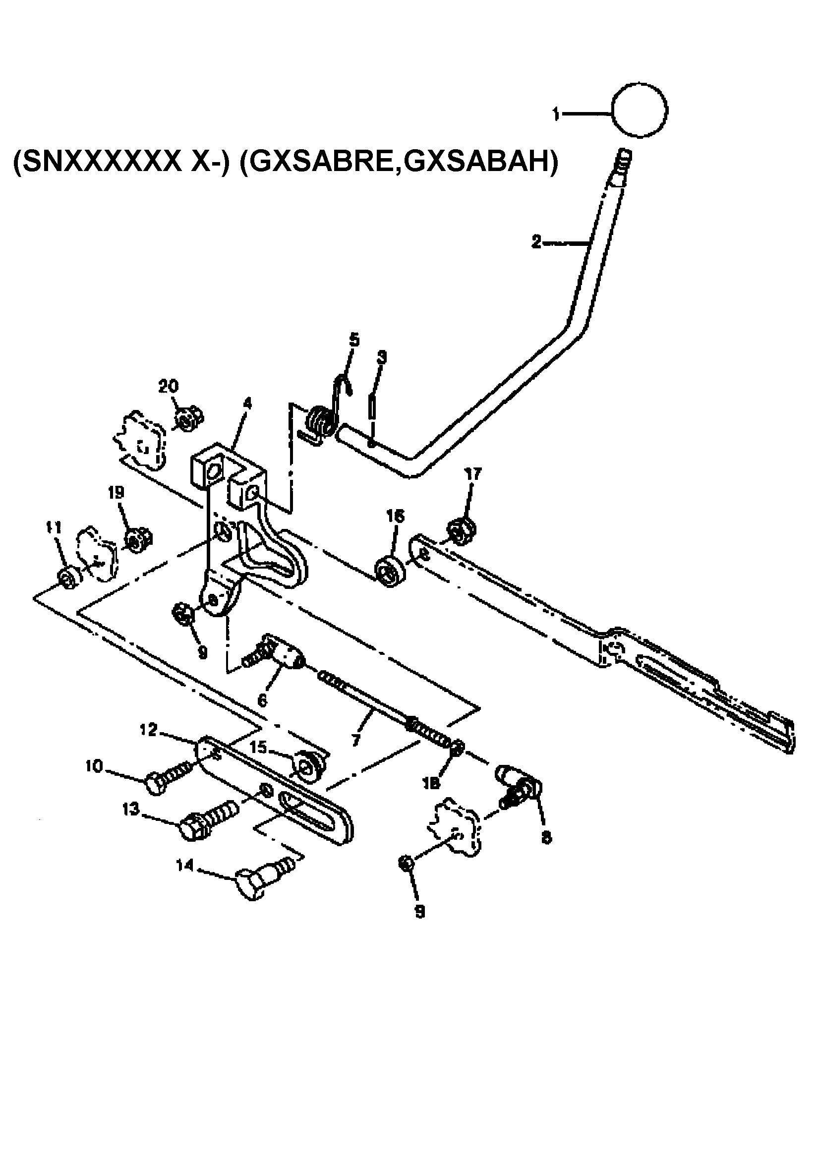 SHIFTER (HYDRO) Diagram & Parts List for Model