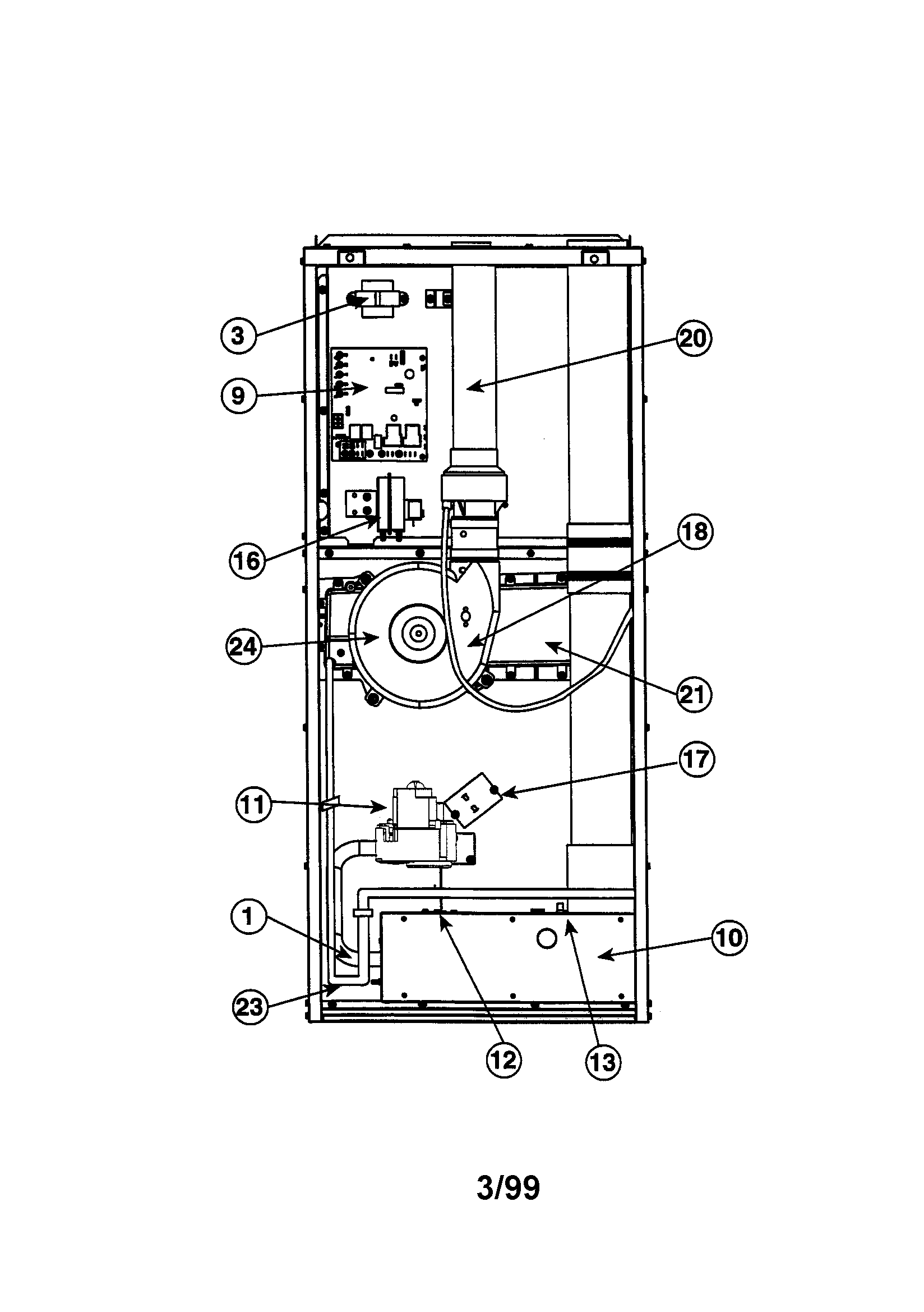 hight resolution of intertherm furnace part diagram
