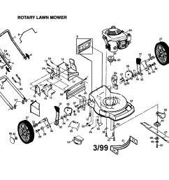 frigidaire model pp55y22cha walk behind lawnmower gas genuine parts honda 217 mower transmission diagram honda [ 2338 x 1648 Pixel ]