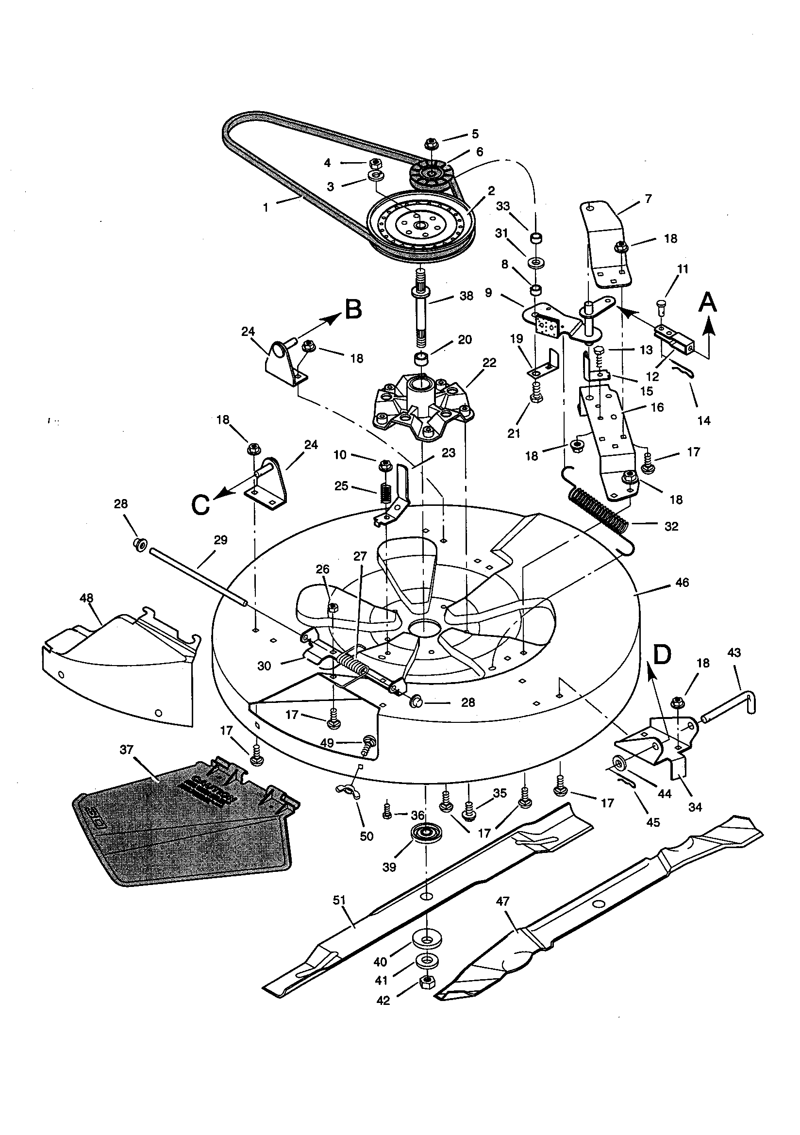 MOWER HOUSING Diagram & Parts List for Model 536270111