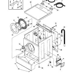 kenmore 41739022890 cabinet door and top diagram [ 1648 x 2338 Pixel ]