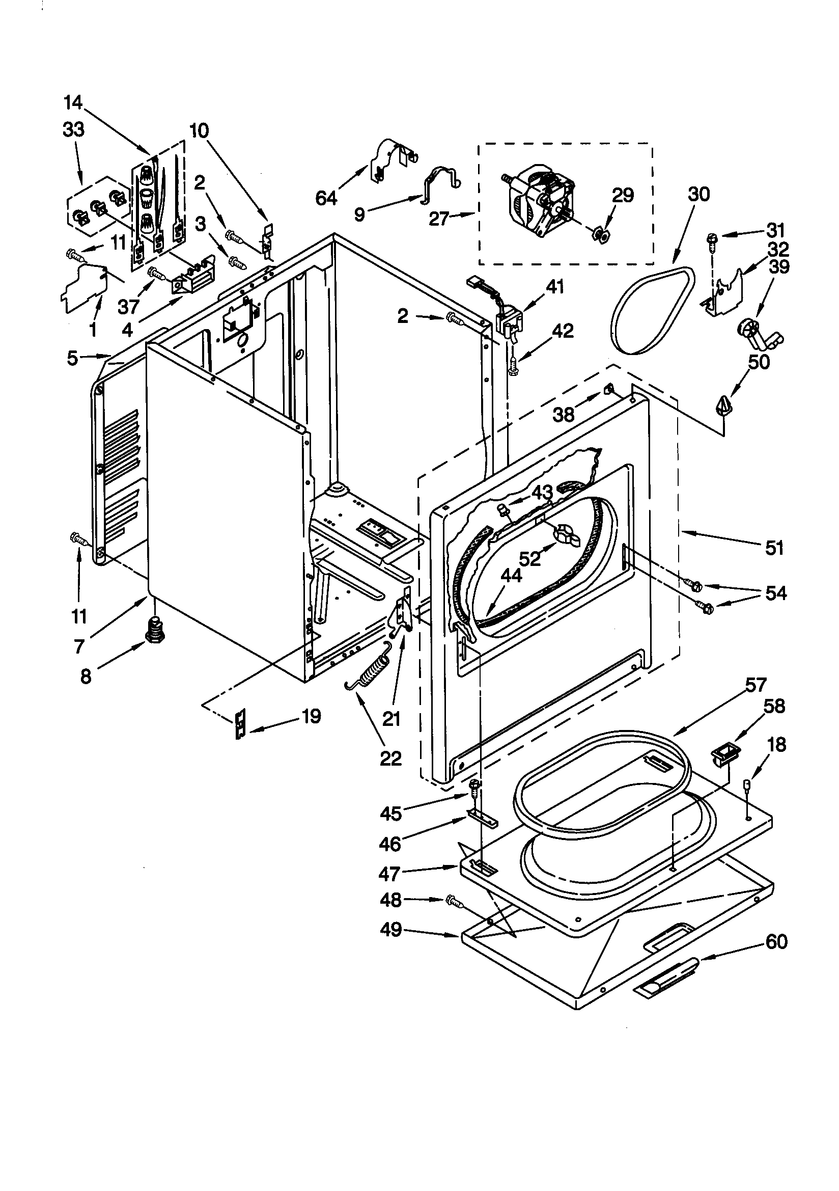 CABINET Diagram & Parts List for Model 11060622990 Kenmore