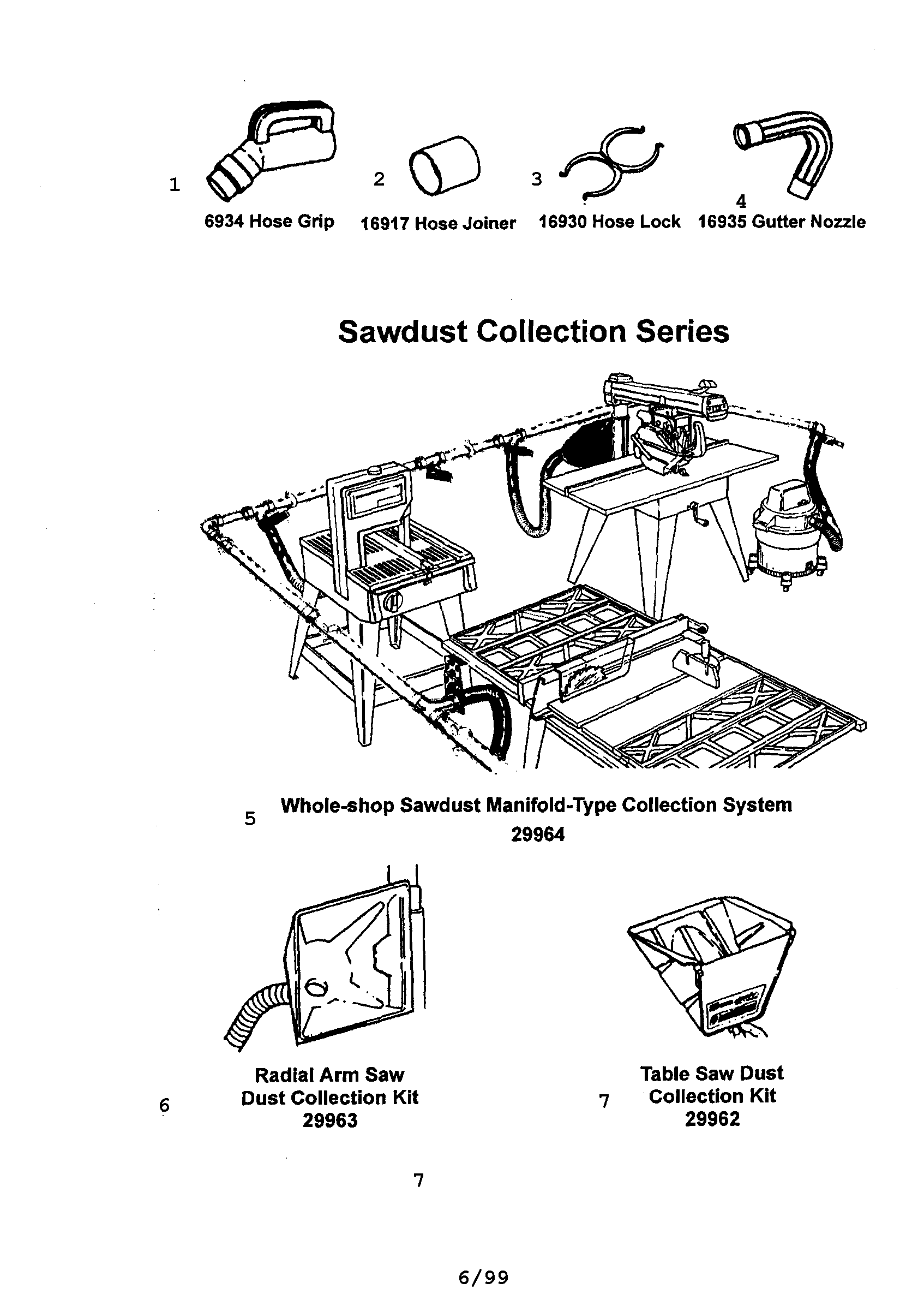 SAWDUST COLLECTION SERIES Diagram & Parts List for Model