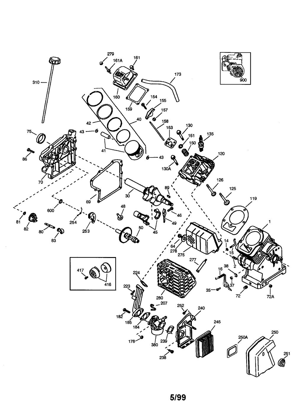 medium resolution of tecumseh ohh60 71131c tecumseh 4 cycle engine diagram