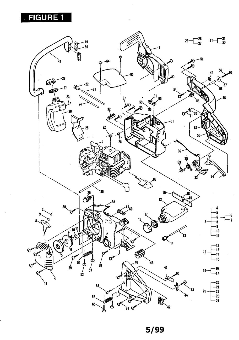 medium resolution of mcculloch mac 3516 11 600035 10 general assembly diagram