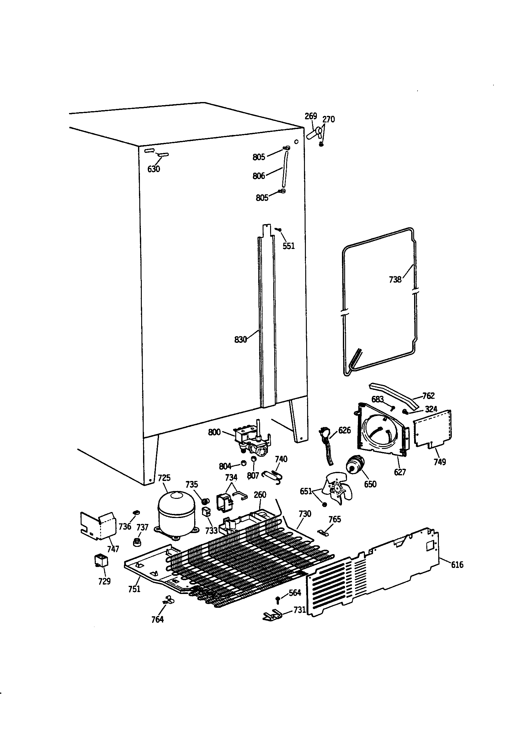 Refrigerator Parts: Ge Refrigerator Parts Diagram