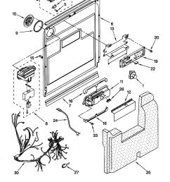 kitchenaid model kuds25shbs1 dishwasher genuine parts rh searspartsdirect com kitchenaid dishwasher wiring harness diagram kitchenaid dishwasher electrical  [ 1648 x 2338 Pixel ]
