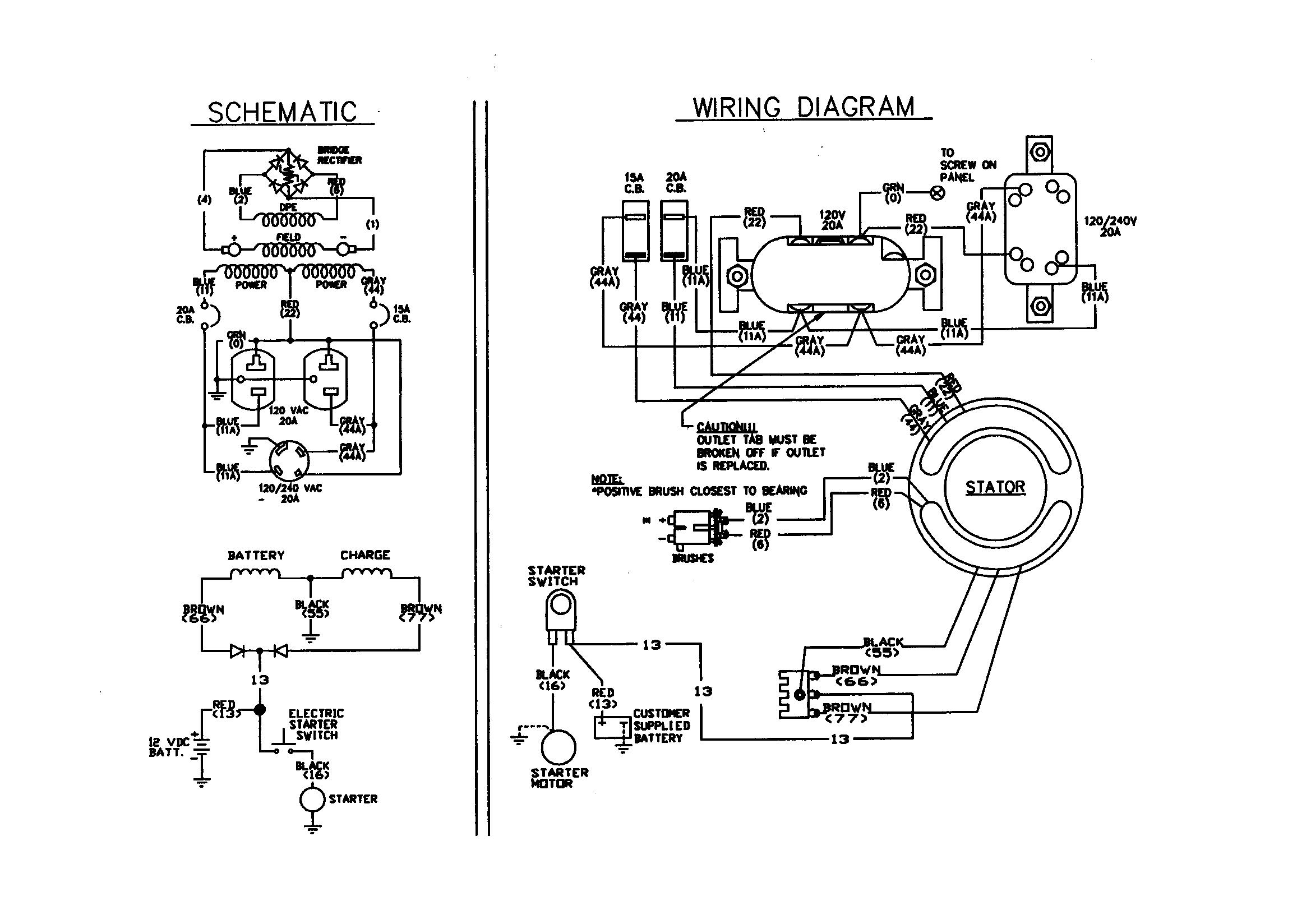 WIRING DIAGRAM/SCHEMATIC Diagram & Parts List for Model