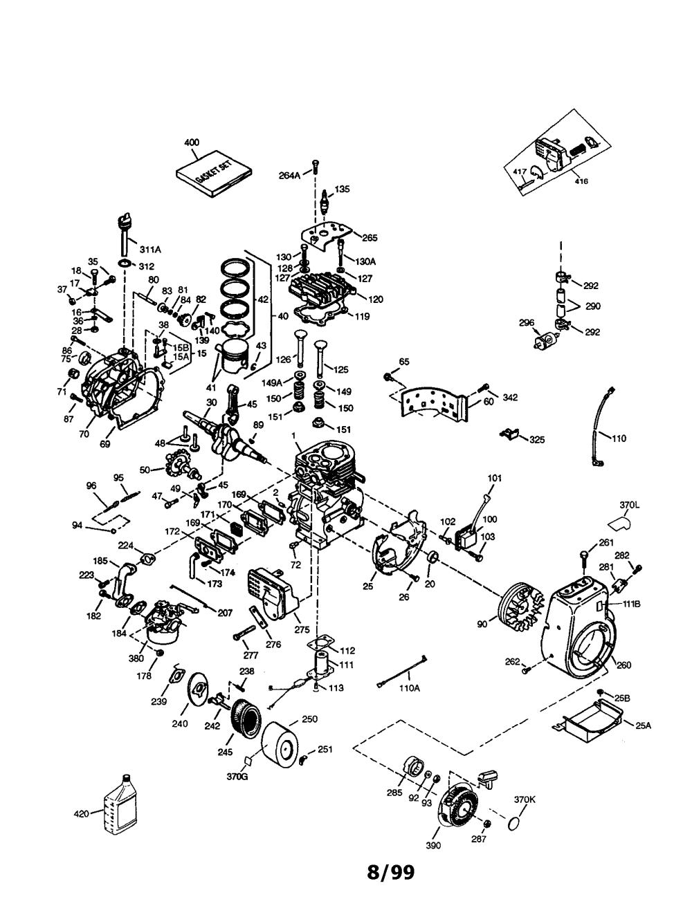 medium resolution of tecumseh model hm100 159409p engine genuine parts rh searspartsdirect com tecumseh engine wiring diagram tecumseh engine diagram