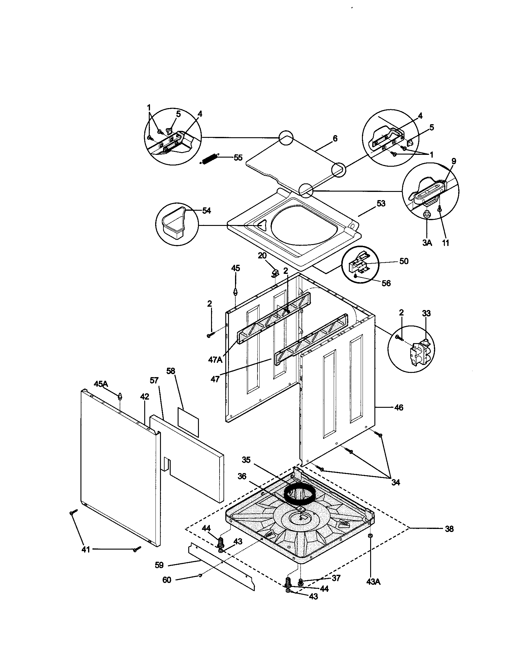 CABINET Diagram & Parts List for Model 41790812990 Kenmore