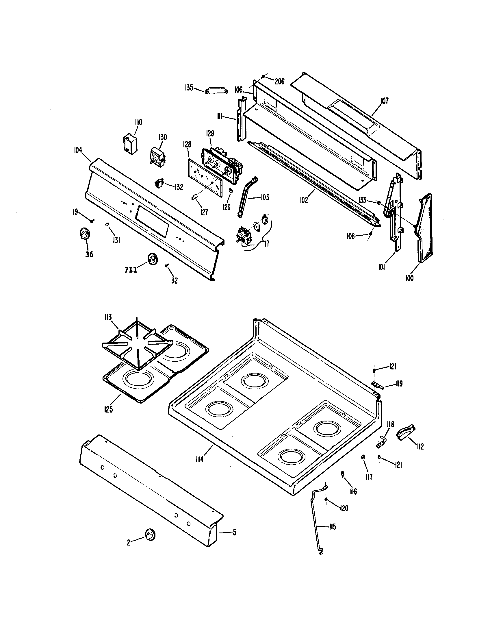 CONTROL PANEL Diagram & Parts List for Model 3627332892
